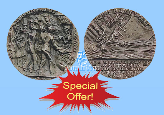 "ME159 OFFER ITEM German Goertz ""Lusitania"" Medallion - World Wide Arms"