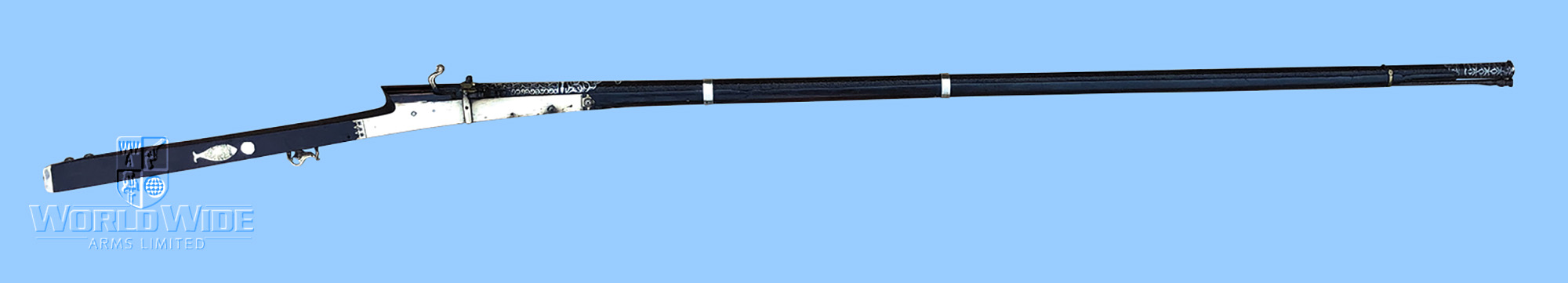 G404 Antique late 17th century Indian 25 bore Matchlock Torador - World Wide Arms