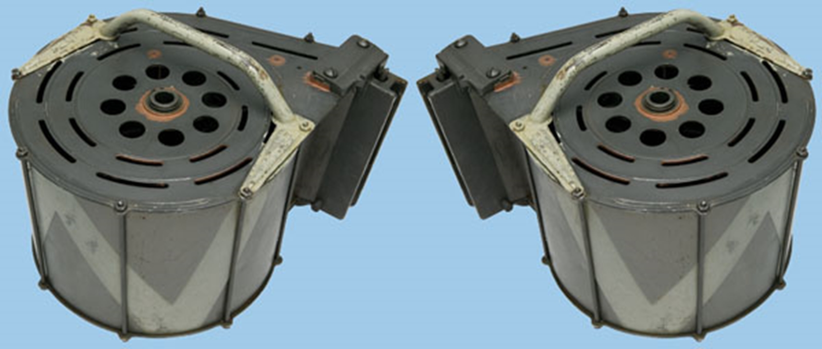 M574 Pair of 20mm Oerlikon Anti-Aircraft Gun Magazines - World Wide Arms