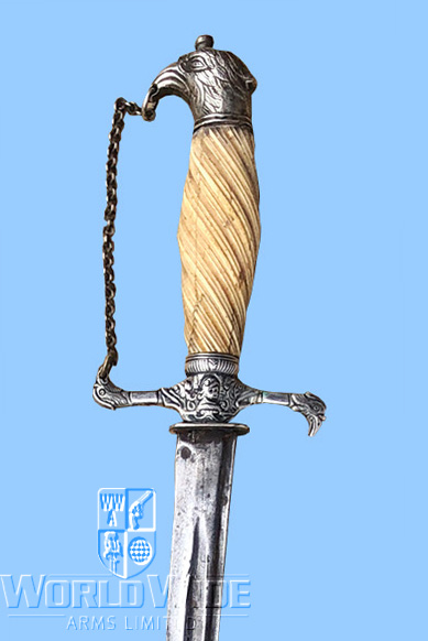 S367I   Antique American Hunting Sword ca 1770s - World Wide Arms