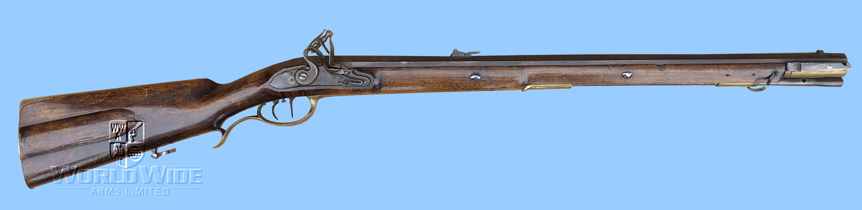 G667  German Jaeger Antique Flintlock Hunting Rifle - World Wide Arms