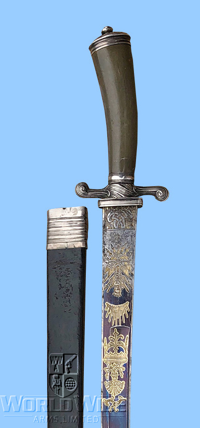S367K    Late 18th cent English Hunting Sword - World Wide Arms