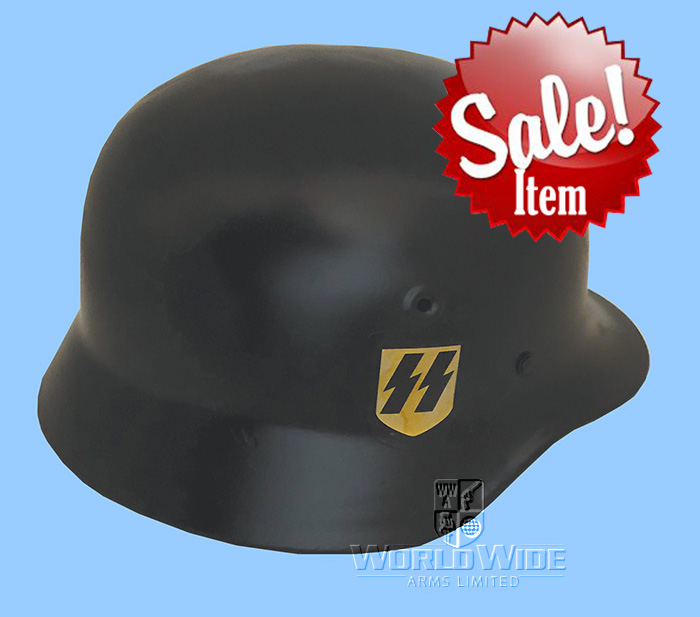 A178 SALE ITEM Black SS Steel Helmet - World Wide Arms