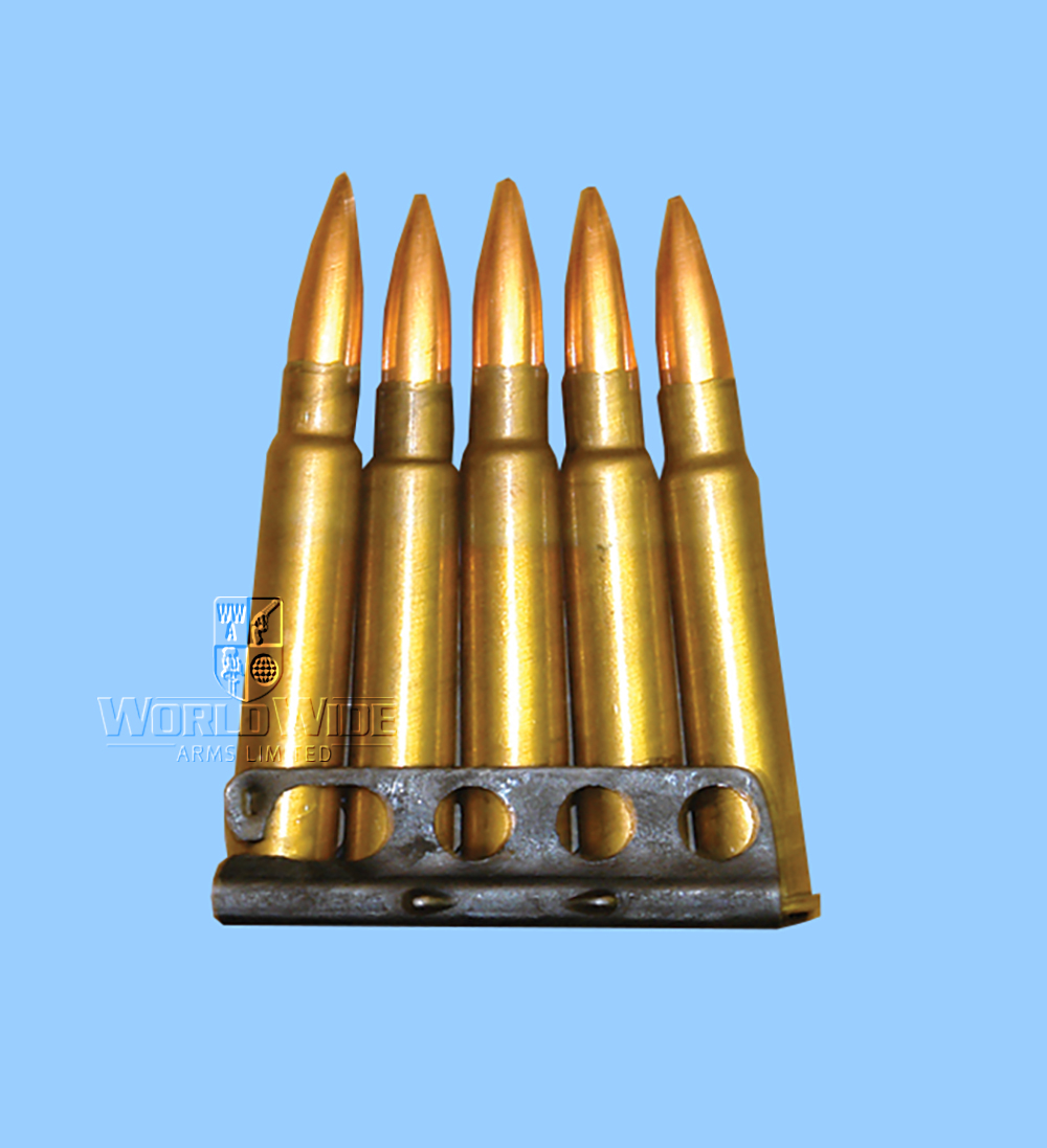 M25 Clip of Five Inert  .303 Rounds - World Wide Arms
